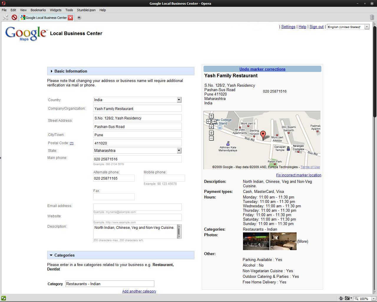 After logging in to my Google Account, Google Maps let me add a busi