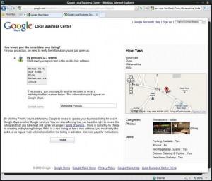 Google Local Business Center Validation